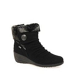 Rieker - Black 'Fern' Womens Ankle Boots