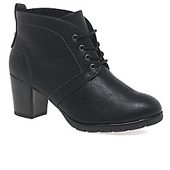Marco Tozzi - Black 'Zina' Womens Lace Up Ankle Boots