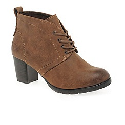 Marco Tozzi - Tan 'Zina' Womens Lace Up Ankle Boots