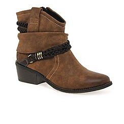 Marco Tozzi - Brown 'tamar' womens ankle boots