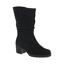 Gabor - Black 'Dunmow' Womens Slouch Calf Boots