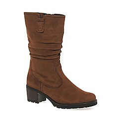 Gabor - Brown 'Dunmow' Womens Slouch Calf Boots
