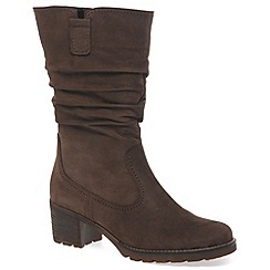 Gabor - Dark brown 'Dunmow' womens slouch calf boots