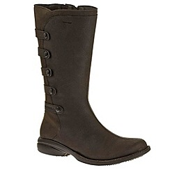 Merrell - Dark brown 'Captiva Launch 2' Waterproof Womens Long Boots