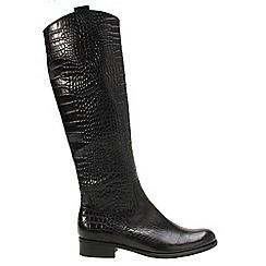 Gabor - Near black 'Brook M' womens long boots