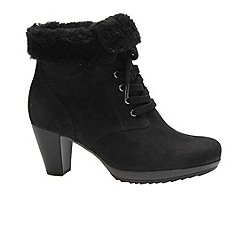 Gabor - Black 'Aconite' womens lace up ankle boots