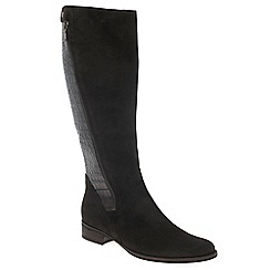Gabor - Dark brown 'Dawson M' womens long boots