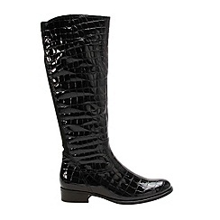 Gabor - Black patent 'Burwood' womens long boots