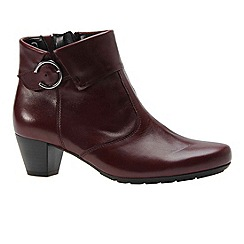 Gabor - Wine 'Cougar' womens ankle boots