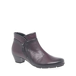 Gabor - Wine 'Emilia' womens ankle boots
