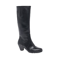 Gabor - Black 'Ceylon S' womens slim fitting long boots