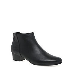 Gabor - Near black 'fresco' womens ankle boots