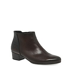 Gabor - Dark tan 'Fresco' womens ankle boots