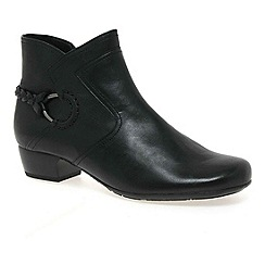 Gabor - Black 'Grove' Womens Ankle Boots