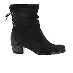 Gabor - Black Sonic Ladies Nubuck Boots