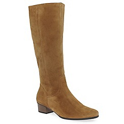 Gabor - Light brown suede 'Toye' womens long boots