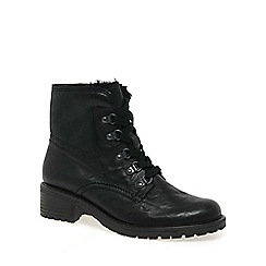 Gabor - Black 'Cranleigh' Womens Lace Up Ankle Boots