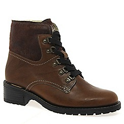 Gabor - Brown 'Cranleigh' Womens Lace Up Ankle Boots