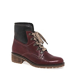 Gabor - Dark red 'Cranleigh' womens lace up ankle boots