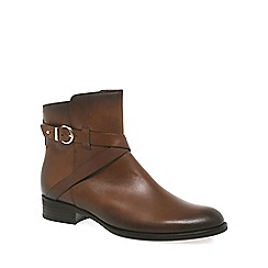 Gabor - Dark tan 'Nightingale' womens ankle boots