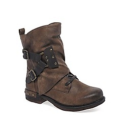 Rieker - Brown 'Andros' Ladies Mid-Calf Casual Boots