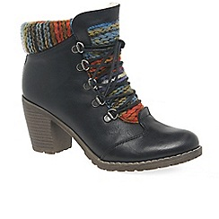 Rieker - Black 'Caledonia' Womens Lace Up Ankle Boots