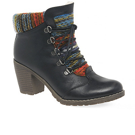 Rieker Black 'Caledonia' Womens Lace Up Ankle Boots ...