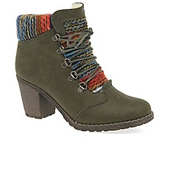 Rieker - Olive 'Caledonia' high heeled ankle boots