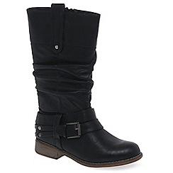 Rieker - Black 'Study' Womens Calf Boots