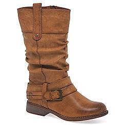 Rieker - Tan 'Study' womens calf boots