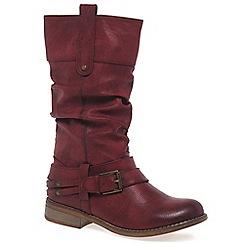 Rieker - Wine 'Study' Womens Calf Boots