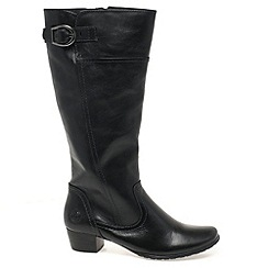 Marco Tozzi - Black 'Jones' Womens Long Boots