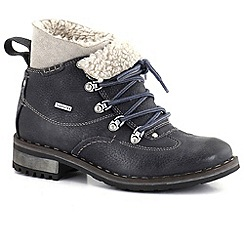 Josef Seibel - Dark grey 'Emily' womens waterproof lace up ankle boots