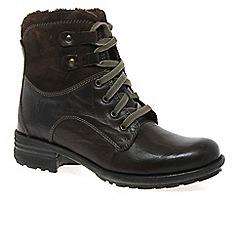 Josef Seibel - Dark brown 'Sue' Womens Lace Up Boots