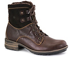 Josef Seibel - Brown 'Sue' womens lace up boots