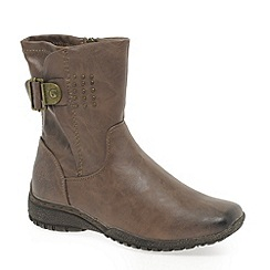 Marco Tozzi - Taupe 'Nelson' Womens Ankle Boots