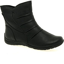 Marco Tozzi - Black 'Bowie' Womens Casual Ankle Boot