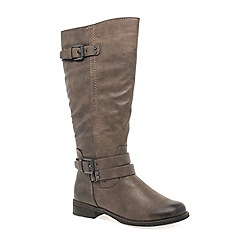 Marco Tozzi - Taupe 'Tyler' womens long boots