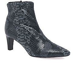 Peter Kaiser - Grey 'Mariona' Womens Grey Snake Ankle Boots