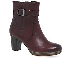 Gabor - Dark red 'Simmons' Womens Ankle Boots