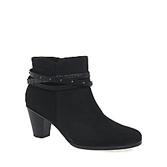 Gabor - Black 'Solero' Womens Nubuck Ankle Boots