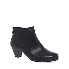 Gabor - Black 'Portobello' womens leather ankle boots