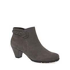 Gabor - Grey 'Portobello' womens leather ankle boots