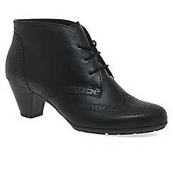 Gabor - Black 'Alesi' leather lace-up ankle boots