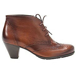Gabor - Brown 'Alesi' leather lace-up ankle boots