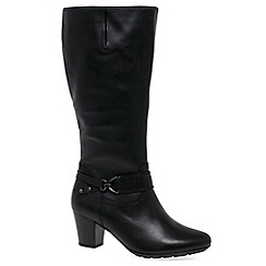 Gabor - Black 'Rosheen' womens wide-fitting long boots