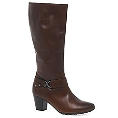 Gabor - Brown 'Rosheen' womens wide-fitting long boots