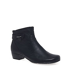 Gabor - Navy 'Bea' womens classic wide fit ankle boots