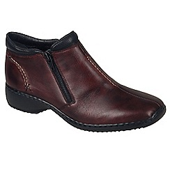 Rieker - Maroon 'Drizzle' Womens Casual Ankle Boots