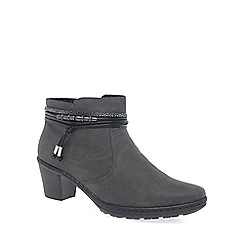 Rieker - Grey 'Toggle' womens casual ankle boots